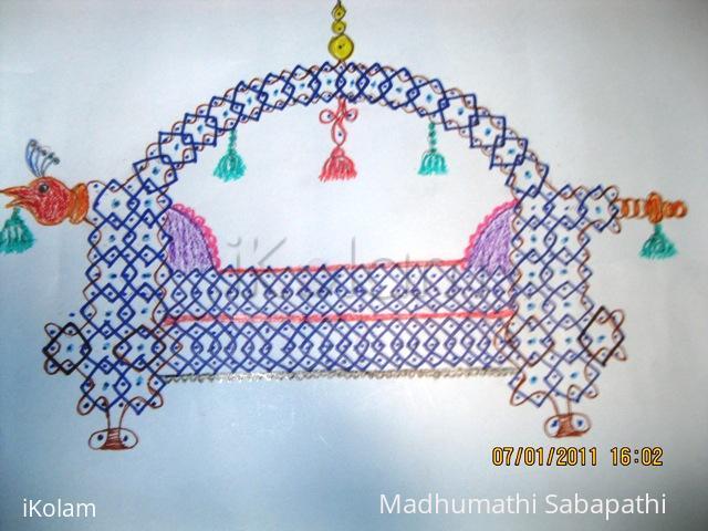 Rangoli: Markazhi dew drops kolam contest 2011