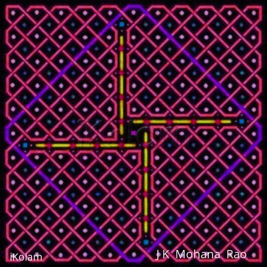 Rangoli: A rangOli with 1-21 straight dots or 11x11 dots