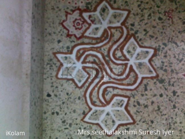 Rangoli: Avani Avittam Puja Room Kolam