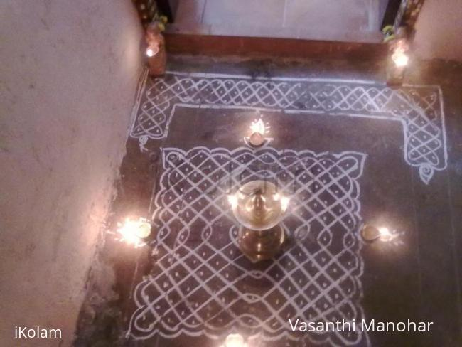 Rangoli: MY FIRST KOLAM - made on karthigai day