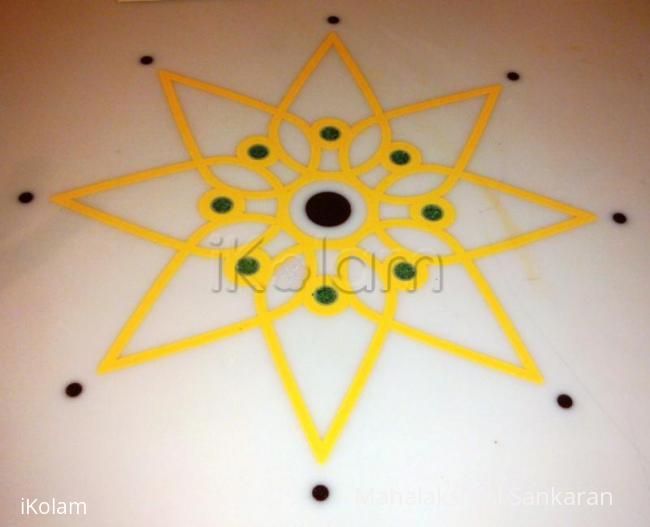 Rangoli: Table Top design