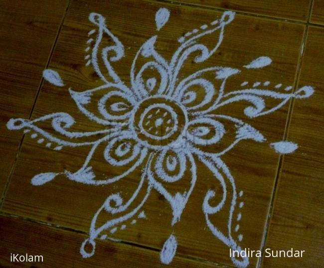 Rangoli: Simple Flower