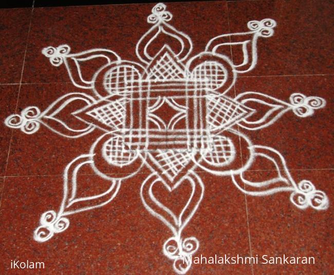 Rangoli: Simple Padi Kolam