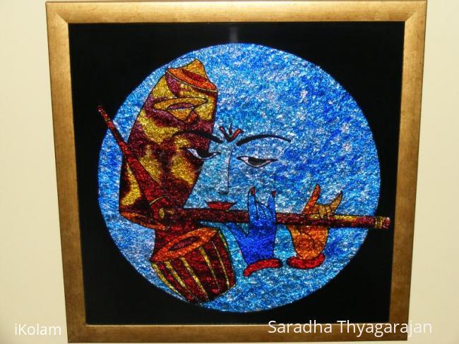 Rangoli: glass painting
