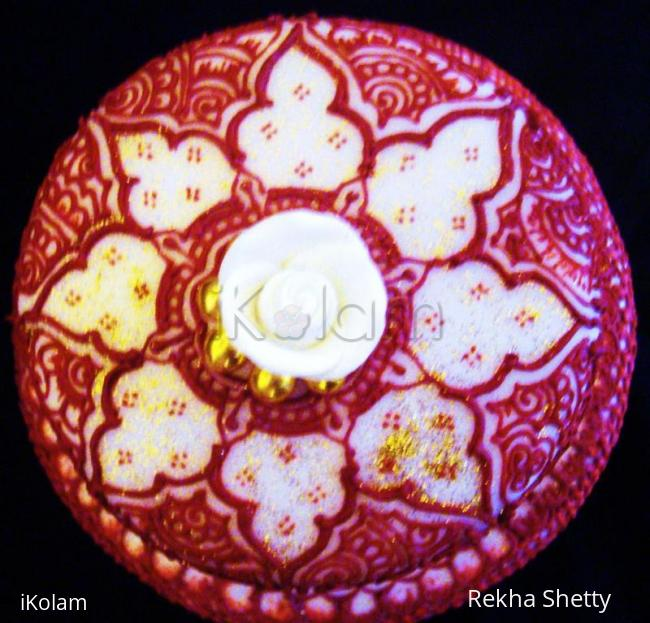 Rangoli: This cake is speially made for our ikolam PM rajamma