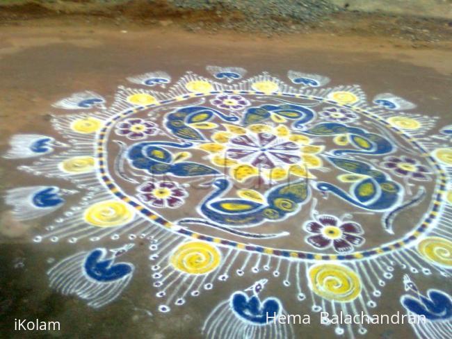 Rangoli: 1st day kolam of marghazhi