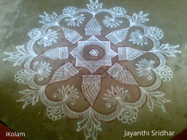 Rangoli: My Parents 50th wedding anniversary