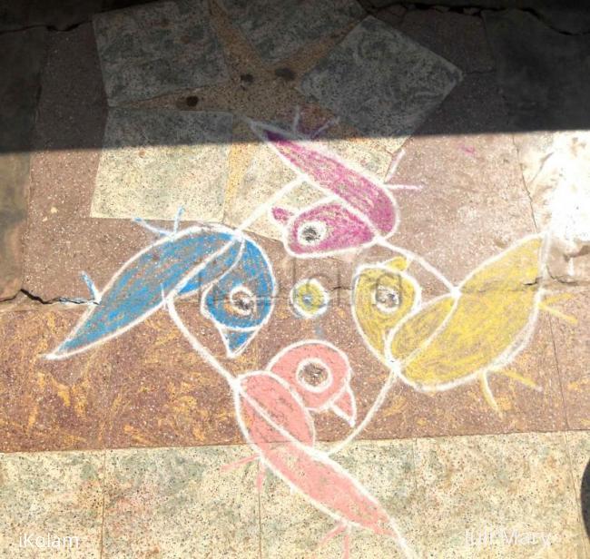 Rangoli: small kolam