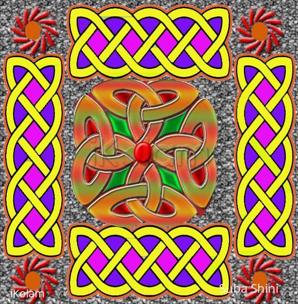Rangoli: celtic knot design