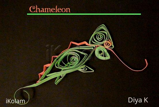Rangoli: Chameleon