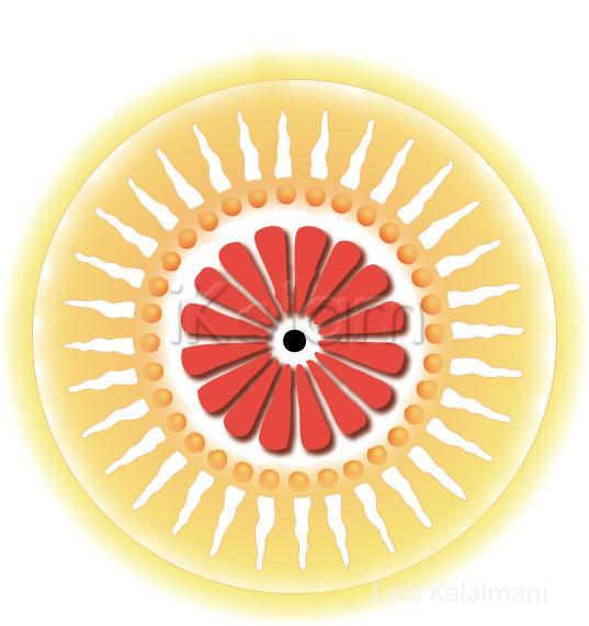 Rangoli: Citrusy rangoli