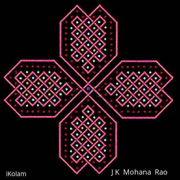 Rangoli: Celtic Knots - 10 - Knotted Hearts :-)