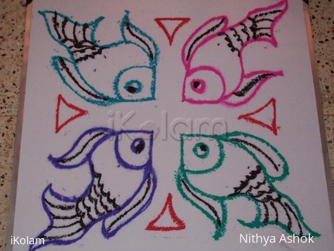 Rangoli: Fish Kolam