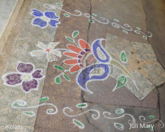 Rangoli: free hand kolam 11