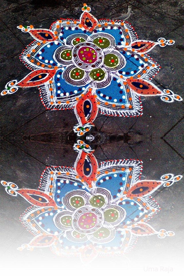 Rangoli: reflection rangoli