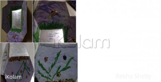 Rangoli: metal basket painting-2