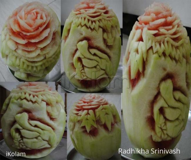Rangoli: melon carving vinayagar