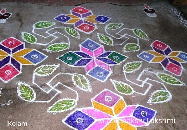 Rangoli: Swastik kolam