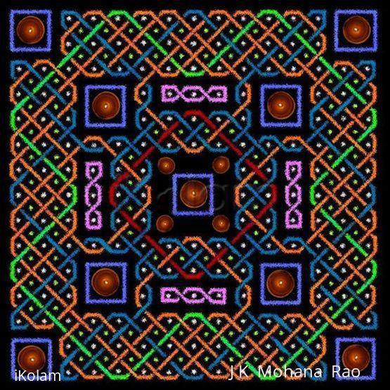Rangoli: sona square in a sona square