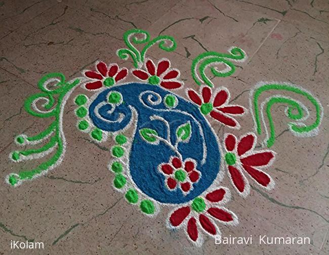 Rangoli: Navaratri day 9