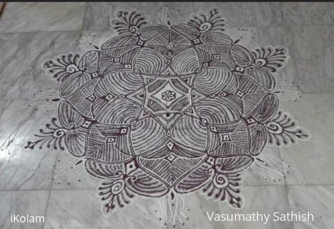 Rangoli: Padi kolam for margazhi