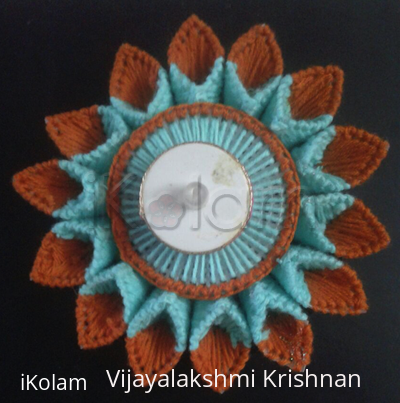 Rangoli: Canvas embroidery