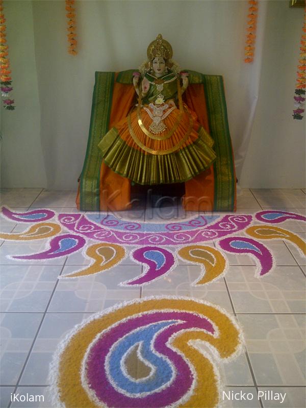 Rangoli: Paisley Kolam