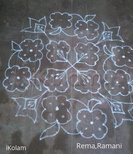 Rangoli: Dotted flower kolam