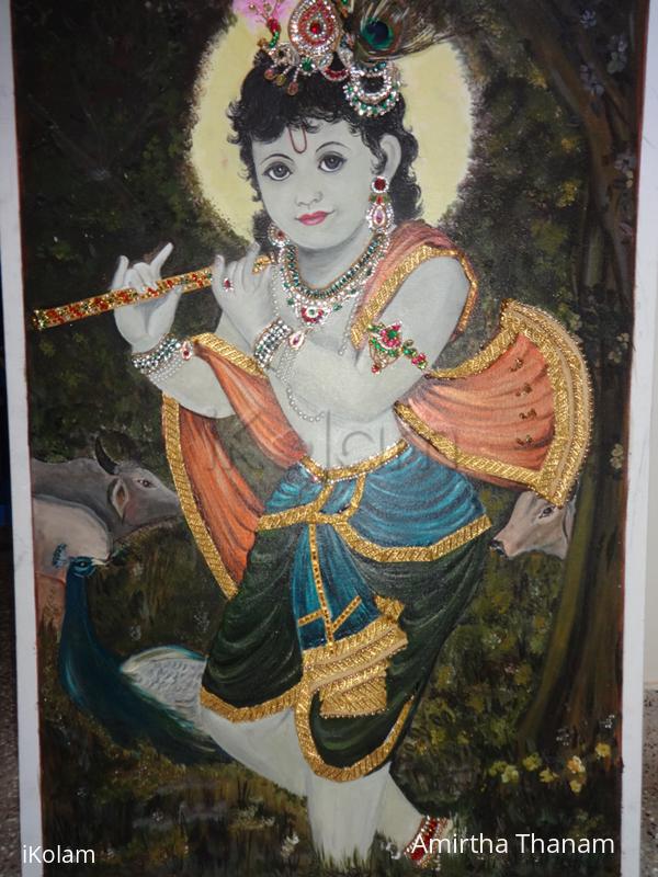 Rangoli: Krishna painting