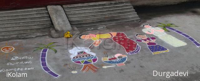 Rangoli: Pongal celebration rangoli