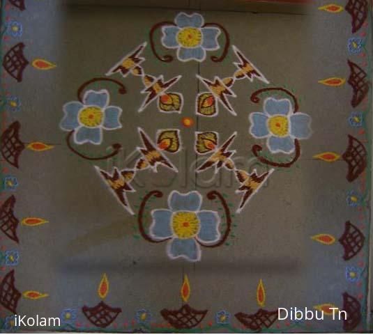 Rangoli: Lamp Kolam