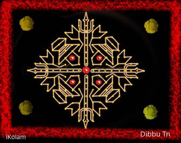 Rangoli: Shiva (completelawyer's kolam interpretation with dots)