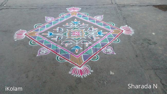 Rangoli: Dotted and freehand