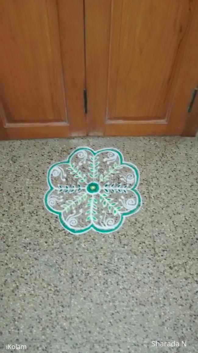 Rangoli: Navarathri freehand kolam