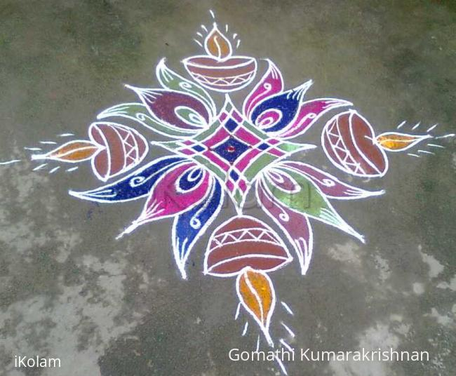 Rangoli: Karthigai Deebam1