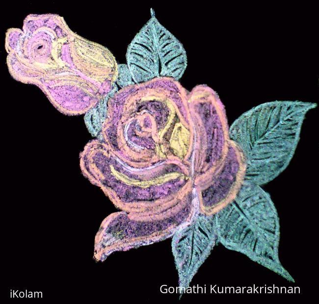 Rangoli: Inspiration Rose from Amirtha Dhanam