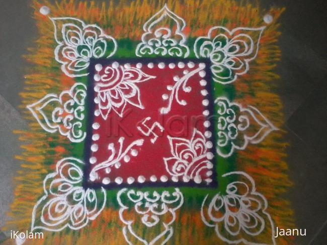 Rangoli: Free Hand Shaded Rangoli