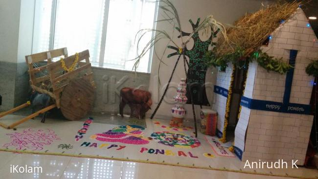 Rangoli: Pongal Decor at Work