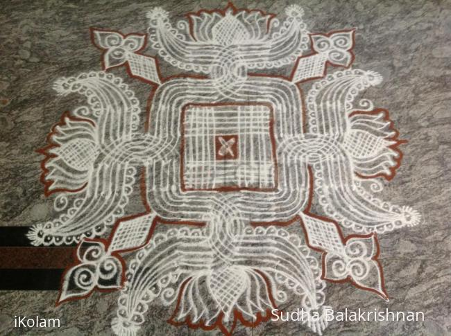 Rangoli: Shravana shukravara rangavalli 2