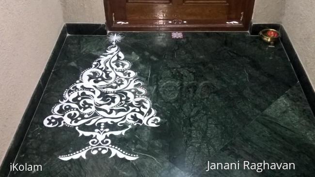 Rangoli: 2016-Christmas tree