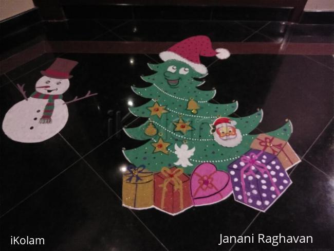 Rangoli: 2017-Christmas kids' rangoli-Lobby