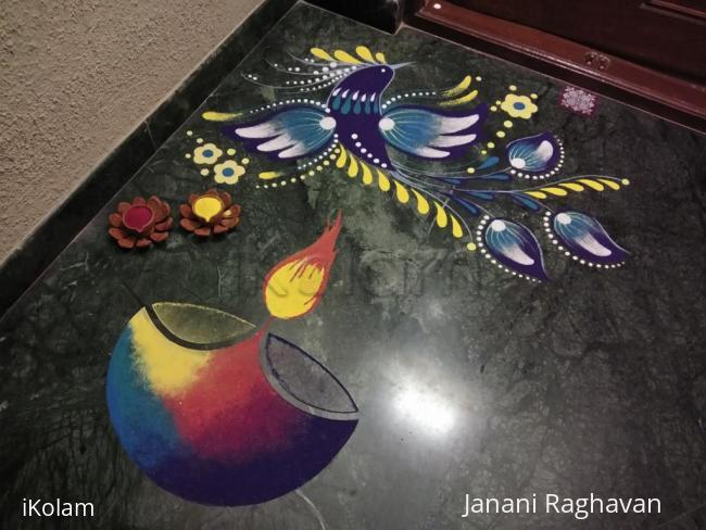Rangoli: 2017-Diwali-4-Diya