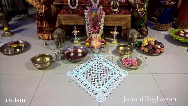 Rangoli: 2017-Soundaryalahiri Saptaha-5-Pooja-3-1