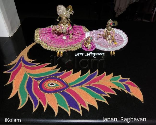 Rangoli: 2018- Janmashtami- birth of Lord Krishna and Mahamaya