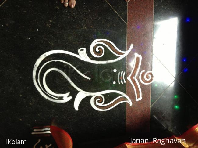 Rangoli: 2014-  Ganesh Chathurthi- 2