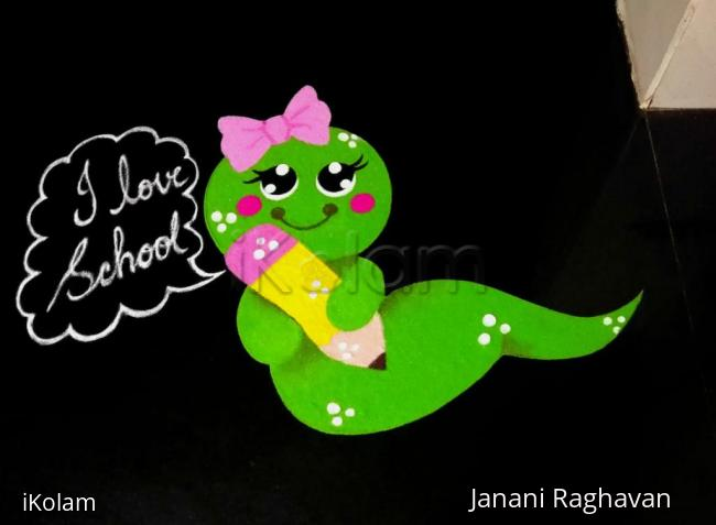 Rangoli: Home Kolams- Caterpillar