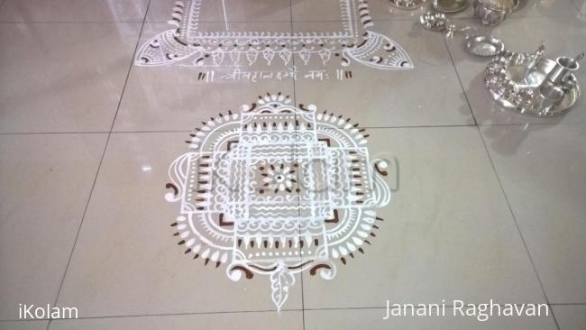 Rangoli: 2017-Varamahalakshmi Pooja-Shankari's place