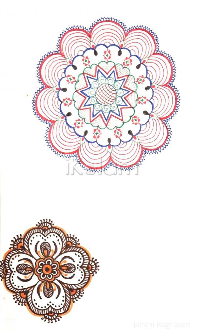 Rangoli: Kolam Notebook Kolams- 126