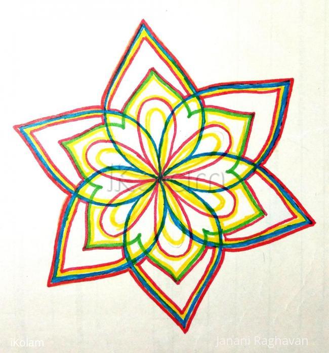 Rangoli: Kolam Notebook Kolams- 6