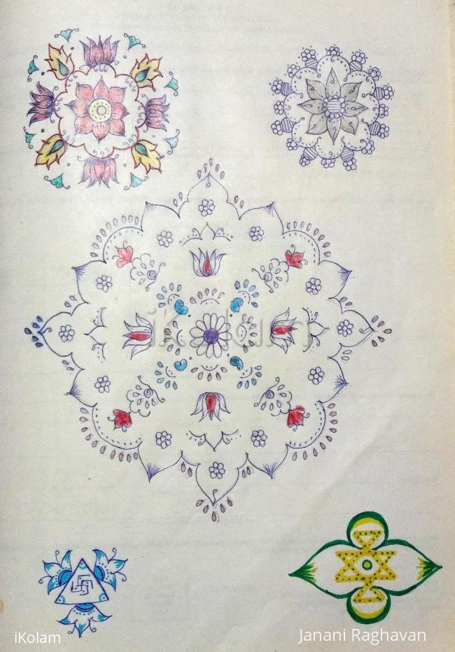 Rangoli: Kolam Notebook Kolams- 78